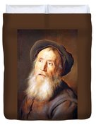 Lievens' Bearded Man With A Beret Duvet Cover