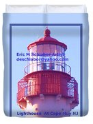 Lighthouse At Cape May Duvet Cover