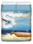 Lighthouse At Whitehaven Duvet Cover