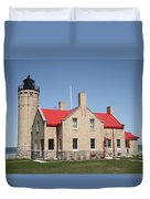 Lighthouse - Mackinac Point Michigan Duvet Cover