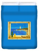 Lighthouse View Duvet Cover