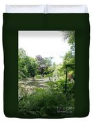 Lily Pond In Monets Garden Duvet Cover