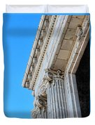 Lincoln County Courthouse Columns Looking Up 02 Duvet Cover