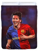 Lionel Messi  Duvet Cover by Paul Meijering