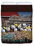 Lobster Fishing Duvet Cover by Elena Elisseeva