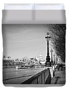 London View From South Bank Duvet Cover