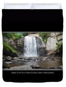Looking Glass Falls North Carolina Duvet Cover