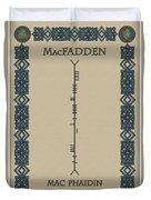 Macfadden Written In Ogham Duvet Cover