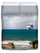 Majesty Of The Seas At Coco Cay Duvet Cover