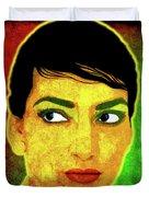 Maria Callas Duvet Cover