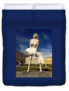 Marilyn In Palm Springs Duvet Cover