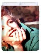 Marilyn Monroe Large Size Portrait Duvet Cover