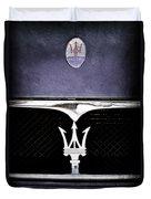 Maserati Hood - Grille Emblems Duvet Cover