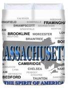 Massachusetts State Pride Map Silhouette  Duvet Cover