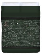 Maths Formula On Chalkboard Duvet Cover