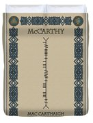 Mccarthy Written In Ogham Duvet Cover