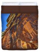 Mckee Springs Petroglyph - Utah Duvet Cover