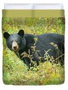 Meadow Black Bear Duvet Cover