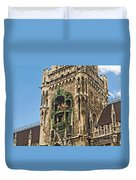 Mechanical Clock In Munich Germany Duvet Cover