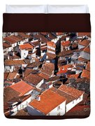 Medieval Town Rooftops Duvet Cover