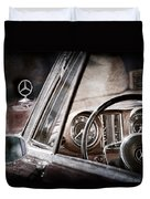 Mercedes-benz 250 Se Steering Wheel Emblem Duvet Cover