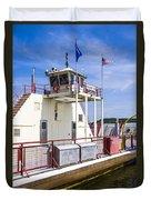 Merrimac Ferry - Wisconsin Duvet Cover
