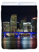 Miami Downtown Skyline Duvet Cover