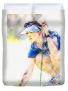 Michelle Wie - Third Round Of The Lpga Lotte Championship Duvet Cover