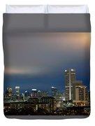 Midtown Atlanta Skyline At Dusk Duvet Cover
