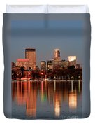 Minneapolis Skyline Duvet Cover