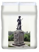 Minutemen Soldier Duvet Cover