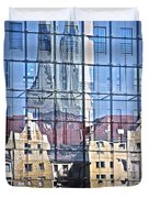Mirror On The Wall Duvet Cover by Heiko Koehrer-Wagner