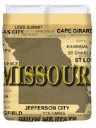 Missouri State Pride Map Silhouette  Duvet Cover