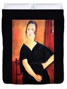Modigliani's Madame Amedee -- Woman With Cigarette Duvet Cover
