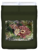 Monarch- Butterfly Mixed Media Photo Composite Duvet Cover