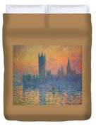 Monet's The Houses Of Parliament At Sunset Duvet Cover