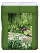 Monets Waterlily Pond Duvet Cover