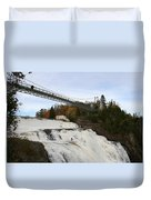 Montmorency Waterfall  Canada Duvet Cover