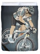Mountainbike Sports Action Grunge Color Duvet Cover