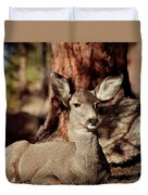 Mule Deer Doe Duvet Cover