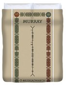 Murray Written In Ogham Duvet Cover