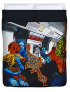 Mutinous Objects Gather In Darkness. The Underground Duvet Cover