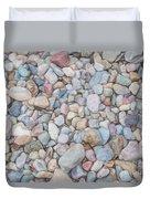 Natural Rock Pebble Backgorund Duvet Cover