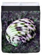Nerita Versicolor Four-tooth Nerite Shell Duvet Cover