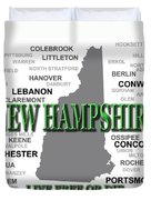 New Hampshire State Pride Map Silhouette  Duvet Cover