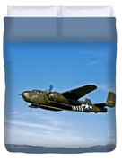 North American B-25g Mitchell Bomber Duvet Cover