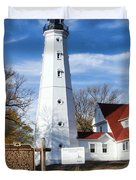 North Point Lighthouse Duvet Cover