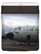 Nose Cone Detail On A Lc-130h Aircraft Duvet Cover