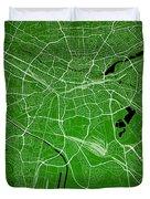 Nuremberg Street Map - Nuremberg Germany Road Map Art On Colored Duvet Cover