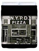N.y.p.d. Pizza Duvet Cover